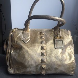 Aimee Kestenberg Genuine Leather Gold Tote